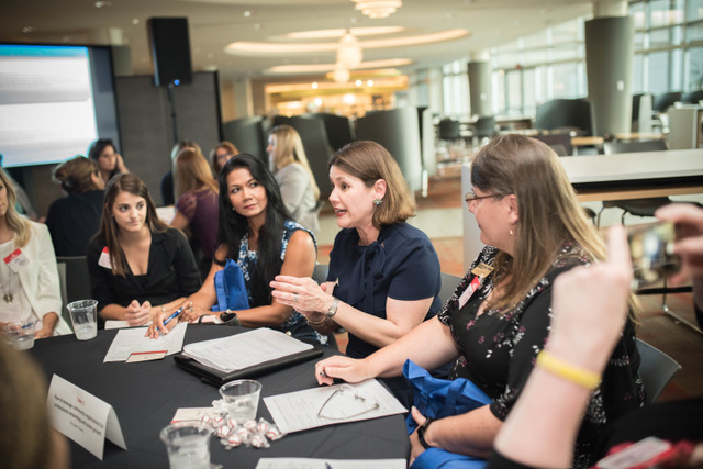 The Junior League of Tampa President Isabel Dewey leads breakout session at the Citi: How Women Shape Technology and Business event