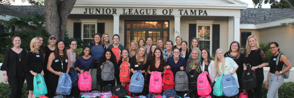 The Junior League of Tampa Love Bundles Volunteers