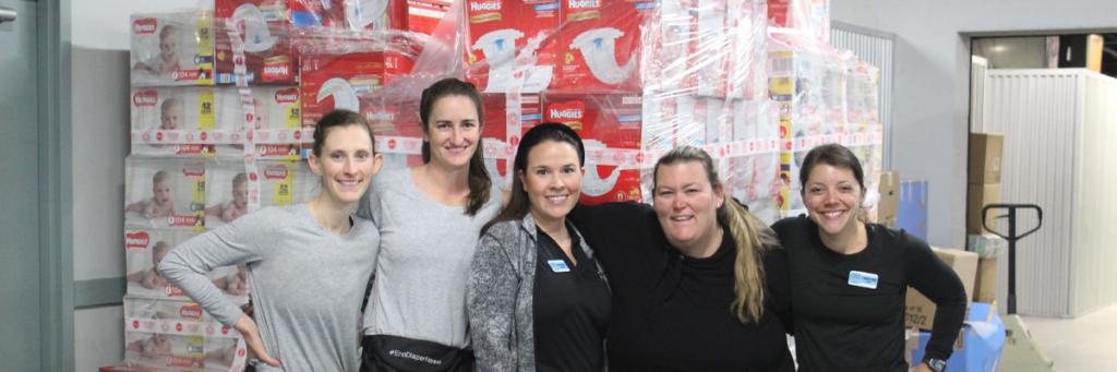 The Junior League of Tampa Diaper Bank Volunteers