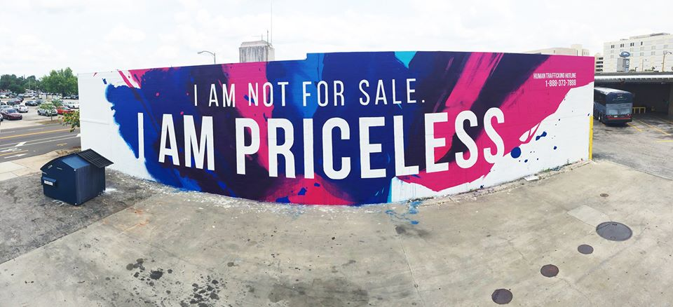 I am not for sale I am priceless mural Tampa