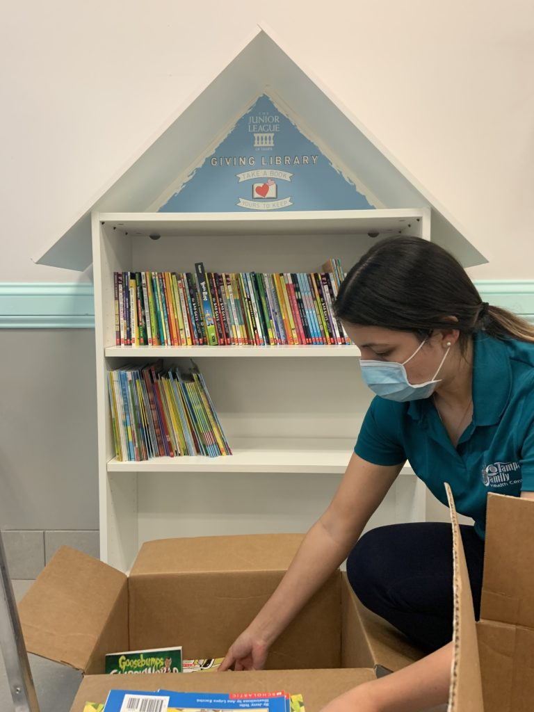 Giving Library being stocked at TFHC