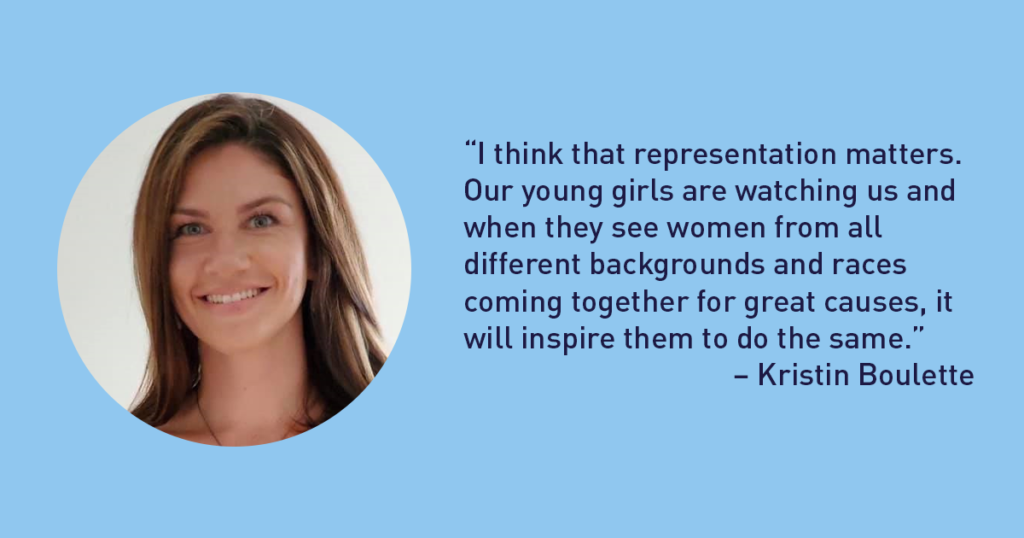 """""""I think that representation matters. Our young girls are watching us and when they see women from all different backgrounds and races coming together for great causes, it will inspire them to do the same."""" – Kristin Boulette - The Junior League of Tampa 1926 Blog"""