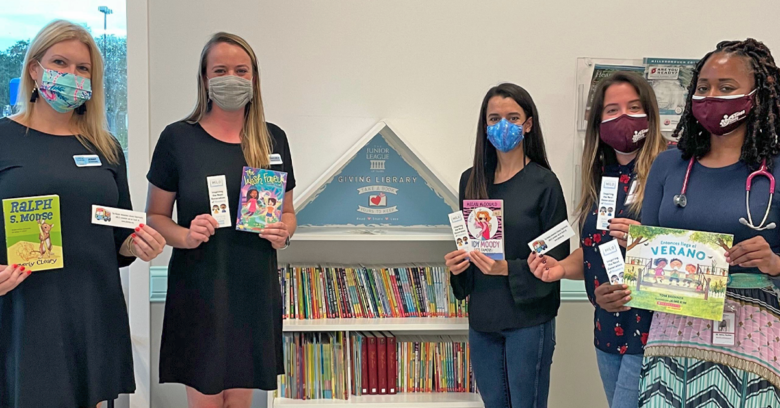 Junior League of Tampa volunteers at Giving Library