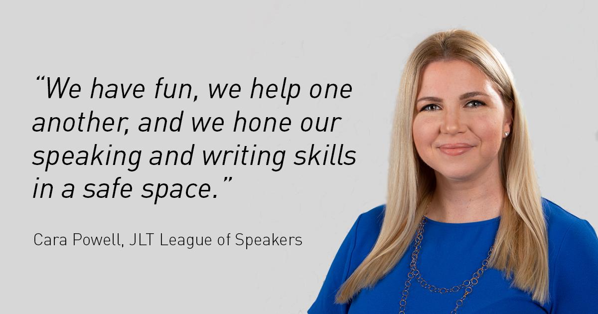 JLT League of Speakers, Cara Powell