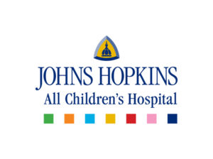 Johns Hopkins All Childrens Hospital Sponsor Logo, Holiday Gift Marker The Clause Cabin